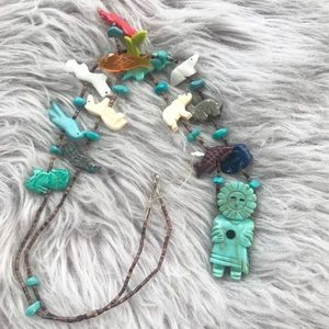 Multicolor Figurines Animal Totem Necklace
